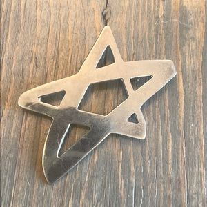 Silver Plate Star Pin